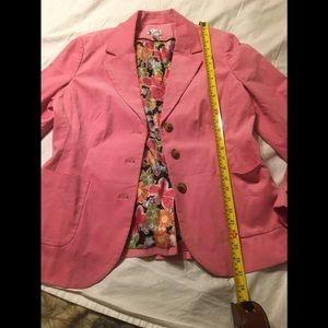 Lilly Pulitzer 12 pink corduroy blazer